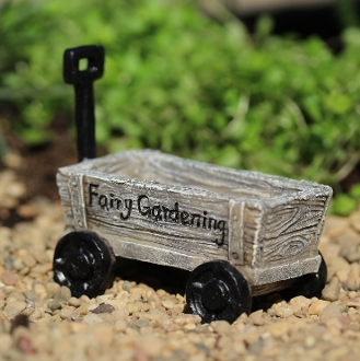Fairy Rustic Wagon For Miniature Fairy Gardens
