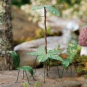 Antiqued Palm Leaf Bistro Set for Fairy Garden