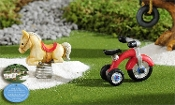 Set/2 Tricycle and Rocking Horse for Fairy Gardens - EXCLUSIVE