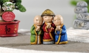 Three Zen Monks for Miniature Fairy Gardens - EXCLUSIVE