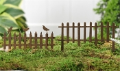 "Set/2 6.5"" Iron Fence for Miniature Fairy Gardens - EXCLUSIVE"