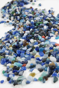 Colorful Glass Ocean Pebbles For Fairy Gardens - 10oz Jar