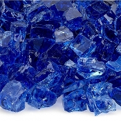 Mini Cobalt Blue Glass For Miniature Fairy Garden - 12oz Jar