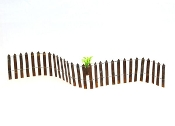 "24"" Rusted Metal Wire Picket Fence for Miniature Fairy Gardens"
