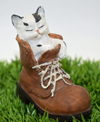 Tex the Cat in Boot for Miniature Fairy Gardens