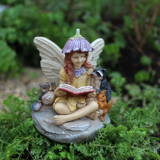 Jamie the Fairy & Forest Friends for Miniature Fairy Gardens