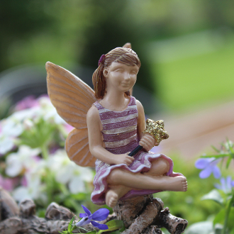 Emily the Youth Fairy for Miniature Fairy Gardens