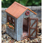 Small Flower Shed for Miniature Fairy Gardens