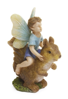 Don the Fairy Riding Squirrel for Miniature Fairy Gardening