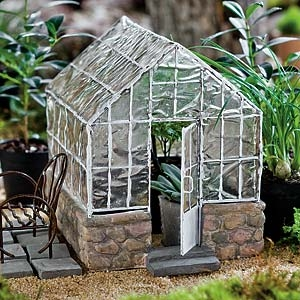 Greenhouse for Miniature Fairy Gardens