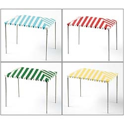 Striped Party Tent For Miniature Fairy Gardens - Choose Color
