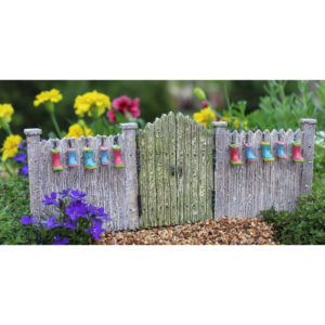 Planter Gate with Rain Wellies for Miniature Fairy Gardens