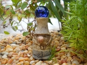 Gnome Based Gazing Ball for Fairy Garden
