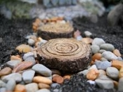 Tree Stump Stepping Stones for Miniature Gardens (set 4)