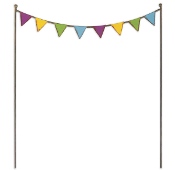 Sale - Party Flags for Miniature Fairy Gardens