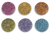 Sale - Colorful Stepping Stones - Set of 6