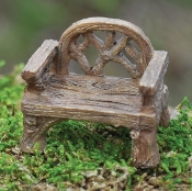 "Rustic Miniature Chair (1.5"" Long-smaller scale)"