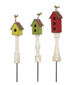Set of Three Winter Birdhouses