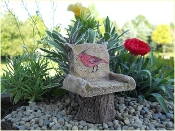 Cardinal Chair For Miniature Fairy Gardens