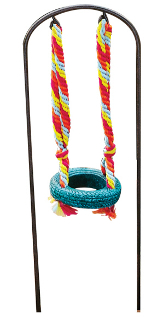 Sale - Colorful Tire Swing On Arbor For Your Fairy Garden