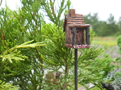 Rustic Birdhouse For Your Miniature Fairy Garden