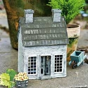 White Clapboard House for Miniature Fairy Gardens