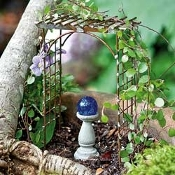 Trellis Metal Arbor For Miniature Fairy Gardens