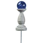 Cobalt Gazing Ball For Miniature Fairy Gardens