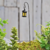 Lantern On Hook For Fairy Garden Paths