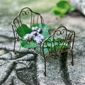 Wrought Fairy Bed For Miniature Fairy Gardens