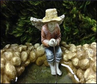 Maddox Scott, The Fairy Fisherman for Miniature Gardens