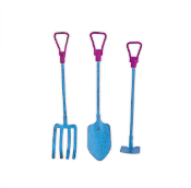 Sale - Blue Garden Tool Set For Miniature Fairy Gardens