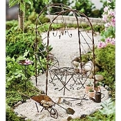 16 Piece Vine Arbor Miniature Fairy Garden Kit