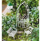7 Pc Willow Miniature Fairy Garden Kit