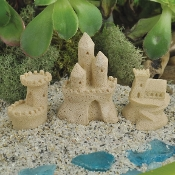 3 Pc Sand Castle Set for Miniature Fairy Garden