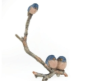 Birds on Twig For Miniature Fairy Gardens