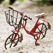 Bike For Miniature Fairy Gardens - Choice of Color