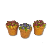 Sale - Set 3/Flower Pots by Gypsy Garden for Miniature Fairy
