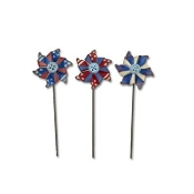 Sale - Set 3/Americana Pinwheels by Gypsy Garden