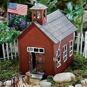 School House for Miniature Fairy Gardens