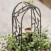 Iron Wildewood Arbor for Miniature Fairy Gardens