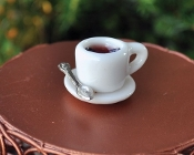 Coffee or Tea and Spoon For Your Miniature Fairy Garden