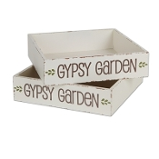 "12"" x 12"" Gypsy Garden Fairy Garden Box  - Qty 1"