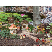 4 House Collection for Miniature Fairy Gardens - EXCLUSIVE