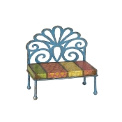 Sale - Filagree Bench for Miniature Fairy Gypsy Gardens