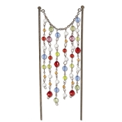 Sale - Beaded Curtain for Miniature Fairy Gypsy Gardens