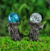 Stump Gazing Balls (set of 2) for Miniature Fairy Gardens