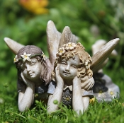 Iris and Lyla Fairies For Miniature Fairy Gardens