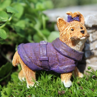 Princess the Puppy Terrier For Miniature Fairy Gardens