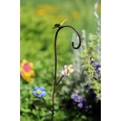 Blooming Flower Shepherd Hook for Miniature Fairy Gardens